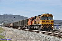 AC4301 and LZ3120 on 2430 Sulphur train seen here heading though Midland on the 7th October 2014