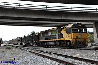 ACA6005 on 5430 Sulphur train seen here departing Forrestfield for Kwinana on the 3rd July 2015