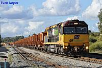 ACA6012 on 6032 loaded MRL iron ore train seen here departing Forrestfield for Kwinana on the 16th May 2014
