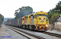 LZ3106 and LZ3103 on 2144 ILS Container train seen here at Thornlie on its way to Fremantle on the 2nd February 2015