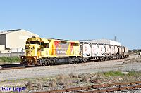 LZ3106 on 1197 loaded cement and lime train seen here at Forrestfield South on the 27th August 2017