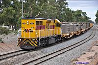 LZ3112 on 5474 loaded salt train at Merredin on the 14th March 2013