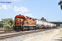 LZ3117 on 3197 loaded cement and lime train seen here heading though Forrestfield South on the 26th September 2017