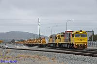 Q4006 and Q4011 on 7426 Kalgoorlie freighter seen here heading though Midland for Kwinana on the 12th April 2020