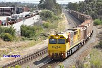 Q4006 on 4430 Sulphur train seen here heading though High Wycombe for Kwinana on the 16th April 2020