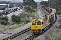 Q4007 on 6430 Sulphur train seen here heading though High Wycombe for Kwinana on the 18th April 2020