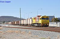 Q4009 on 7430 Sulphur train seen here heading though Midland for Kwinana on the 3rd May 2020