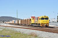 Q4011 on 3430 Sulphur train seen here heading though Midland for Kwinana on the 31st July 2019