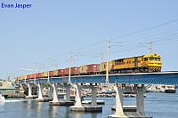 Q4012 on 2196 container train seen here crossing the Fremantle bridge in Fremantle on the 18th September 2017