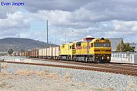 Q4019 and Q4014 on 2430 Sulphur train seen here heading though Midland for Kwinana on the 21st April 2020