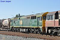 Being transferred from Adelaide to Perth for shunting duties 8026 on 2MP9 behind SCT003 and SCT015 heading though Midland on the 9th April 2020