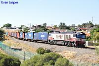 CSR004 on 7142 ILS container train seen here heading though Spearwood on the 13th February 2016