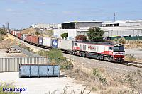 CSR006 on 5142 ILS container train seen here heading though Spearwood for Fremantle on the 18th February 2016
