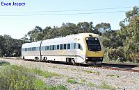 WDA001/WDB011 on 3015 Transwa empty Prospector service seen here at Hazelmere on the 13th September 2016
