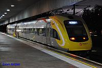 WDA002/WDB012 on 4085 Transwa Prospector service getting ready to depart East Perth for Kalgoorlie on the 31st August 2016