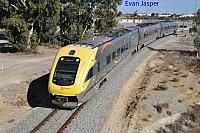 WDB013/WDC021/WDA003 on 1088 empty Transwa Prospector service seen here departing Kewdale for East Perth on the 3rd June 2019