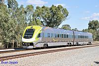 WEA031/WEB041 on 7063 empty Transwa Avonlink service seen here at Hazelmere heading to Midland on the 5th March 2016
